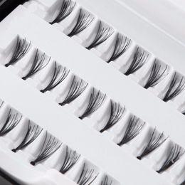 Wholesale Individual Lashes 14mm - 2017 Fashion 60PC Individual Black Mink Fake False Eyelashes Natural Long Eyelashes Extension Makeup Eye Lashes 8 10 12 14mm