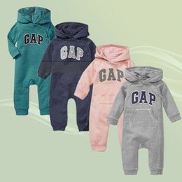 Wholesale Baby Boy Coverall Rompers - Brand Baby Boy Spring Cotton Coverall Infant Girls Rompers With alphabet variety of Colors Zipper Button Romper for Newborn baby