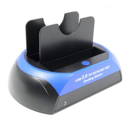 "Wholesale Usb Hard Drive Dock - Wholesale- USB3.0 to SATA IDE HDD Docking Station Super Speed USB 3.0 For 2.5"" 3.5"" Hard Drive HDD SSD"