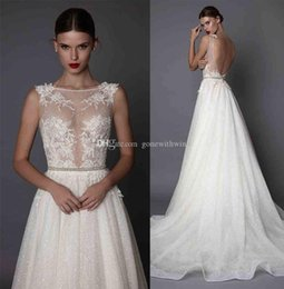 Wholesale Sweetheart Tea Dress - sheath wedding dresses 2017 muse berta bridal cap sleeves illusion jewel neck sweetheart neckline heavily embellished bodice open low back