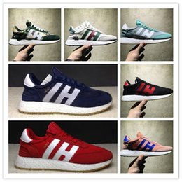 Wholesale Womens Green Tennis Shoes - The 70S Retro Original Iniki Runner Boost Running Shoes Grey-Core Blue Triple Black Green Red Camo Sneakers Mens Womens Sports Sneakers
