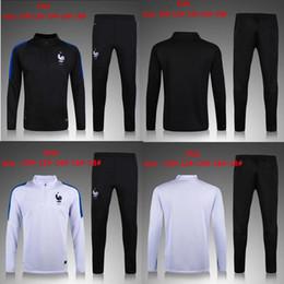 Wholesale France Football Kits - AAA+quality 2016 2017 France kids jacket Training suit kits boys 1617 GRIEZMANN POGBA PAYET DEMBELE KANTE MATUIDI football shirt
