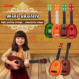 Wholesale Mini Toy Train - CongMingGu Mini Ukulele Kids Toy Simulation Guitar Wood Color Musical Toys Children Room Decor Pretend Play Game Interest Train