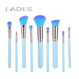 Wholesale Golden Rose Cosmetics - LADES Maquiagem Makeup Brushes Set Eyeshadow Pro Foundation Powder Blush Eyeliner Cosmetic Pincel Maquillage Rose Golden AL Tube