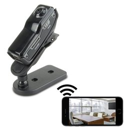 Wholesale Iphone Dv - Mini Wifi Spy Camera Pocket DV Portable Camcorder Pinhole Video Recorder Nanny Cam Support iPhone Android APP Remote View MD81 MD81S