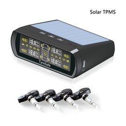 Wholesale tire pressure monitoring systems - New Arrival Tyresafe TP400 CAR TPMS with Colorful Solar Auto charged Display mini Internal Best Tire Pressure Monitoring Systerm