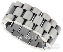 Wholesale Imitation Band - Free Shipping 10mm Width Stainless Steel Adjustabler Flexible Band Link Ring