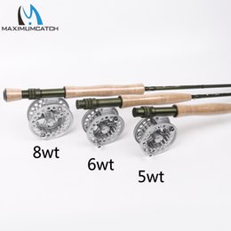 Wholesale Reels Combo - Wholesale- Maximumcatch Fly Fishing Rod & Fly Reel Combo 9FT 5wt 6wt 8wt Fast Action Superfine Carbon Fiber Fly Rod