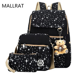 Wholesale Print Laptop - Wholesale- 2017 Large Capacity Cute Backpack With Bear School Bags For Teenagers Girls Japanese Backpacks Dots Printing laptop bag 14 inch