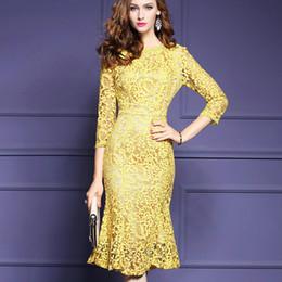 Wholesale Chiffon Mermaid Style Dresses - Summer style chiffon dress, Europe, the United States, large yards of women's wear, round neck embroidery, lotus leaf, lace, middle skirt