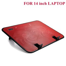Wholesale Red Laptop Stand - Laptop Cooling Pad, DB-0089 Portable Ultra-Slim QuietLaptop Cooling Pads USB Interface Stand for Laptop Cooler Notebook Stand Cooling(RED)