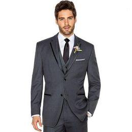 Wholesale Mens Elegant Suit - High qulity the groom suits fashion elegant mens wedding suits two button fashion three-piece grooms tuxedos(jacket+pants+vest)