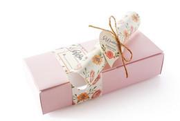 Wholesale Wedding Invitation Scrolls Wholesale - Free shipping pink box hemp rope love heart scroll wedding invitations card supplies 30pcs lot