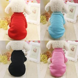 Wholesale Thick Winter Dog Coats - 2017 New Winter Pet Dog Sweater Clothing Puppy Thick Warm Coat Apparel Solid Color Casual Sweatershirt For Dog