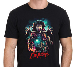 Wholesale Horror Shirts - Brand Men'S O-Neck Graphic Short Sleeve Night Of The Demons Horror Movie T Shirts