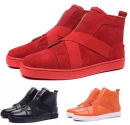Wholesale british sneakers - Best Men Shoe Red Bottom Sneakers Mens Designer Loafers Flats British Comfortable Luxury Brand leather Trainers Leisure Diamonds Casual Shoe