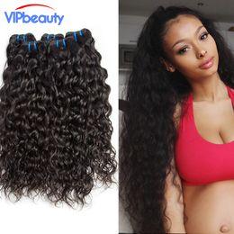 Wholesale Cheap Wavy Remy Hair - Ali moda 6A Indian water wave virgin hair Unprocessed Cheap human hair weave ,wet and wavy Indian remy hair