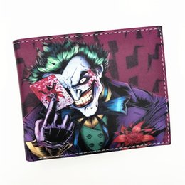 Wholesale Bat Man Movies - Wholesale- Wallet Comics Movies Suicide Squad The Joker Harley Quinn Enchantress And Bat Man Short Wallets With Card Holder Purse