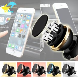 Wholesale phone car bracket Degree with magnetic iron Magnetic Stand Car Phone Mount Holder Universal Mobile Phone with retail package
