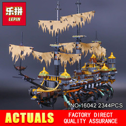 Wholesale Building Blocks Pirate Ship - Lepin 16042 2344Pcs New Pirate Ship Series The Slient Mary Set Children Educational Building Blocks Bricks Toys Model Gift 71042