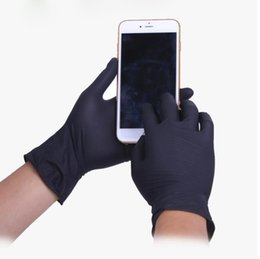 Wholesale Black Dishes - 100 Pcs Box Black Garden Gloves Disposable Latex Gloves For Home Cleaning Rubber Or Cleaning Luvas Universal Food Guantes