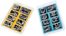 Wholesale Magnetic Game Set - 8PCS Set Metal Puzzle IQ Wire Brain Teaser Game for Children Adults