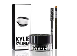 Wholesale Cosmetic Pots Wholesale - Kylie Cosmetics brithday edition kylie kyliner eyeliner and gel Gel pot Brush liner 6 types black  brwon chameleon bronze