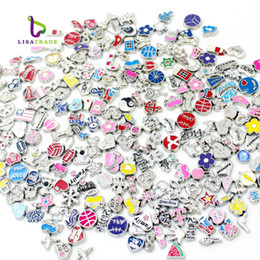 """Bracelet style locket en Ligne-Gros-2016 New Sale Flottant Charms """"Mix Style"""" Zinc Alloy Fit Flottant charme médaillon Flottant médaillon bracelet 10PCS LSFC115 * 100"""