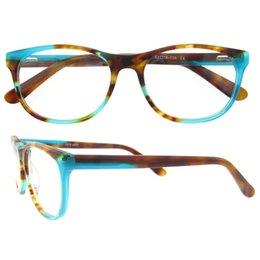 Wholesale Retro Vintage Clear Lens - Fashion Acetate women Eyeglasses frame retro optical brand designer myopia clear glasses frame Oculos De Grau