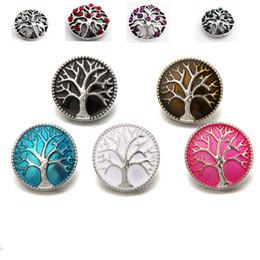 Wholesale Wholesale Bracelet Trees - Rivca Life Tree Ginger Snap Button for Bracelet NOOSA Chunks Leather Bracelets For Women Fit 18mm Rivca Snap Jewelry