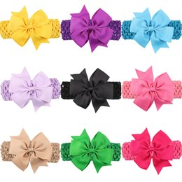 Wholesale Baby Wide Headbands - baby girl   wide headband  Grosgrain Ribbon Bow, solid colors  18 colors available
