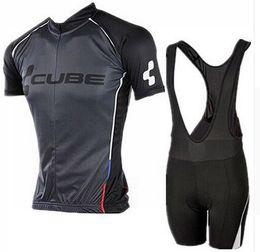 Wholesale Bike Cube - 4 styles for choose Cube Team Cycling Jersey bike shorts set Bike Wear team jersey Short sleeve cycling shorts suit #wk28