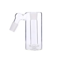 Wholesale Glass Inside - 14 and 18 Ash catcher 45 Degree Showerhead percolator one inside joint 18mm glass ash catcher thick clear glass ashcatcher for water pipe
