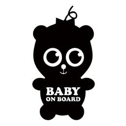 Wholesale bumper board - Baby On Board Sticker For Car Rear Car Styling Reflective Windshield Bumper Door Canoe Art Vinyl Decal
