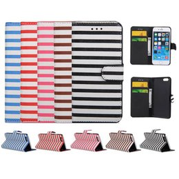 Wholesale Zebra Iphone Wallet Wholesale - Iphone 6 6s Zebra Stripe Style Leather Case Credit Card KickstandFlip Wallet Case With Card Slot For Note 5 Opp Bag
