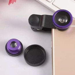 Wholesale Galaxy Lens Kit - 3 In 1 Lens Kit Universal Clip Camera Mobile Phone Lens Fish Eye + Macro + Wide Angle for IPhone 7 Samsung Galaxy S8 Free Ship TX001
