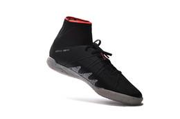 Wholesale Sports Shoes Wholesalers - 2017 New Neymar JR Soccer Cleats Hypervenom X Proximo IC Neymar X JR Football Shoes Glitch Soccer Cleats CR7 Sports Shoes Size 6.5-11