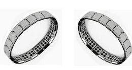 Wholesale Energy Magnetic Titanium Germanium Bracelet - Health bracelets magnetic GE power titanium steel Magnetic Energy 80 Germanium Power Bracelet energy Balance bangles