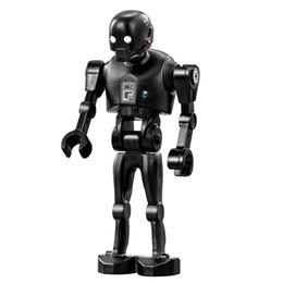 Wholesale Toy Robot Assemble - WholeSale 20pcs STAR WARS Rogue One K-2SO Droid Robot SW782 Minifigures Assemble Model DIY 3D Building Blocks Kids Gifts Toys
