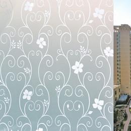 2019 виниловый виниловый винил Скраб стекло окна наклейки статическое электричество теплоизоляция фильм стикер используется для ванной туалет и офисное стекло декоративные 8ac A1
