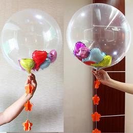10 Pcs Decoração grande festa de aniversário de casamento gigante Limpar Hélio Air Globo DIY Confetti Balloon 24 polegadas transparente Foil Balloons de Fornecedores de brinquedos baratos grossistas