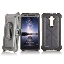 Wholesale future apple iphone - Future Armor Hybrid Case For ZTE Blade Z Max Metropcs For LG Aristo metropcs LV3 With Belt Clip Holster Crystal Robot Case C