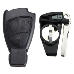 Wholesale mercedes sprinter - Guaranteed 100% Replacement Car Key Case Remote Key Shell Key Blank fit for Benz Mercedes SPRINTER C S E Class Free Shipping
