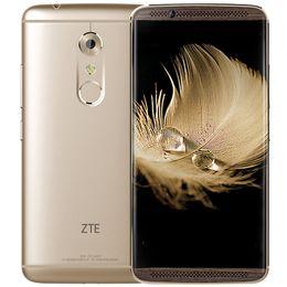 Wholesale Zte Quad - Original ZTE Axon 7 4GB RAM 64GB 128GB ROM Smart Phone Fingerpeint Snapdragon 820 Android Quad Core Dual Nano Card 20.0MP 5.5inch Phone
