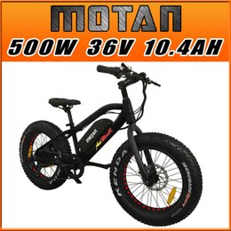 Wholesale E Bicycle 36v - Addmotor MOTAN M50 Electric Bicycle Black 20Inch Fat Tire 500W 36V 10.6AH E-Bike Lithium Battery Gear Fork Suspension Children Gift