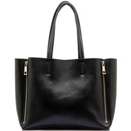 Wholesale Trendy Stylish Bag - Stylish Women Genuine Leather Handbag Tote Bag Fashion Trendy Large Capacity Deformable Big Shoulder Hand-Bag Real Leather Purse Wholesale