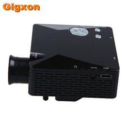 Wholesale Vga Systems - Wholesale- Gigxon - G810 HD Home Theater Cinema LCD Image System 80 Lumens MINI LED Projector with AV VGA SD USB HDMI free shipping