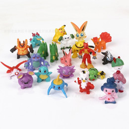 Wholesale Pocket Pikachu - Poke Game Cartoon Pocket Monster Pikachu Charizard Eevee Bulbasaur Figures Toy Anime Doll Mini Model Toys For Children 0 78qf H1