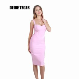 Wholesale Below Knee Length Dress - Wholesale- DEIVE TEGER Free shipping 10 colors 2016 WINTER below knee bandage dress women Party Dresses lady club dress HL1441