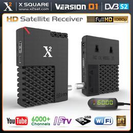 Wholesale Dvb S2 Iptv - X2 V1 FULL HD DVB-S2 Mini (FTA) with IPTV Hybrid Satellite Receiver, YouTube, Online Update, USB WiFi - New Version